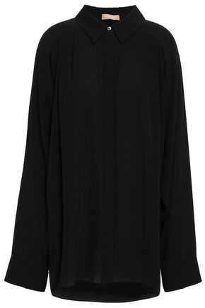MICHAEL KORS COLLECTION Oversized pleated crepe shirt