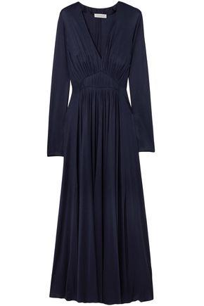 GABRIELA HEARST Louise ruched silk-jersey midi dress