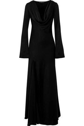 ELLERY Venier split-front satin-crepe gown