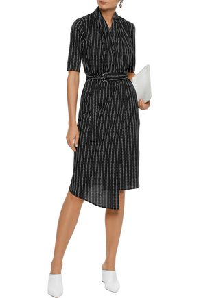 IRIS & INK Eloise printed cotton-poplin wrap dress