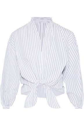 TOME Pleated cotton-poplin blouse