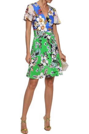 85021f73 DIANE VON FURSTENBERG Floral-print silk-jersey wrap dress