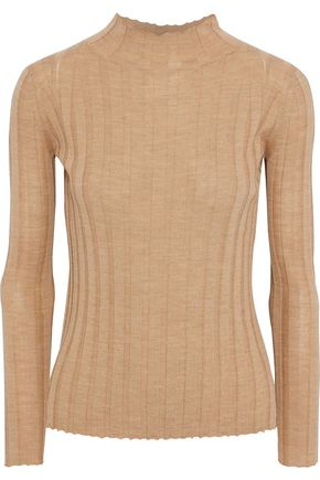 IRIS & INK Ribbed wool turtleneck sweater