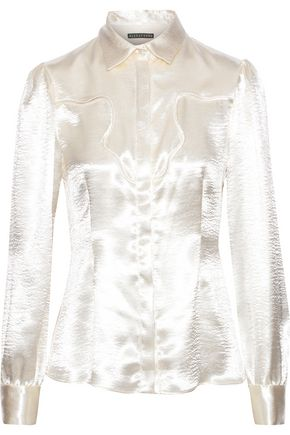 ALEXACHUNG Textured-satin shirt
