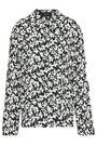 JOSEPH Ruffle-trimmed floral-print silk crepe de chine shirt