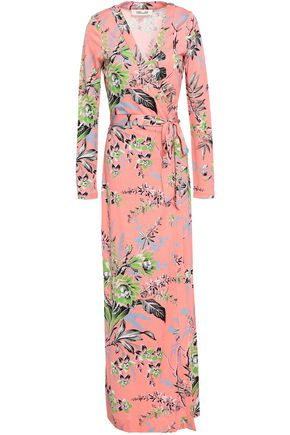 DIANE VON FURSTENBERG New Julian floral-print silk maxi wrap dress