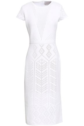 CAROLINA HERRERA Pointelle-knit dress