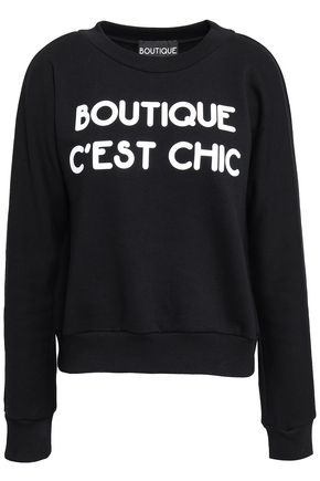 BOUTIQUE MOSCHINO Printed French cotton-terry sweatshirt