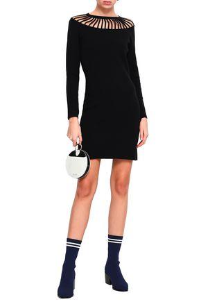 BOUTIQUE MOSCHINO Cutout knitted mini dress