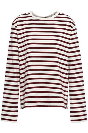 JOSEPH Morgon striped cotton-jersey top