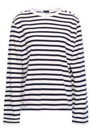 JOSEPH Morgon striped cotton-jersey top