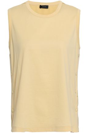 JOSEPH Jersey and silk-satin top