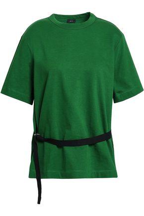 JOSEPH Belted cotton-jersey T-shirt