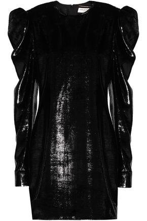 SAINT LAURENT Lamé mini dress