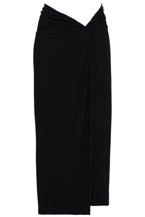 MICHAEL KORS COLLECTION Twist-front jersey midi pencil skirt