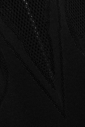 BALMAIN Pointelle-knit gown