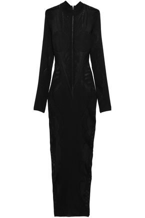 BALMAIN Pointelle-knit gown