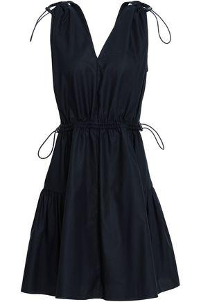 STELLA McCARTNEY Gathered cotton mini dress