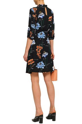 MARKUS LUPFER Kimi floral-print crepe mini dress