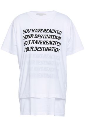 STELLA McCARTNEY Crystal-embellished printed cotton-jersey T-shirt