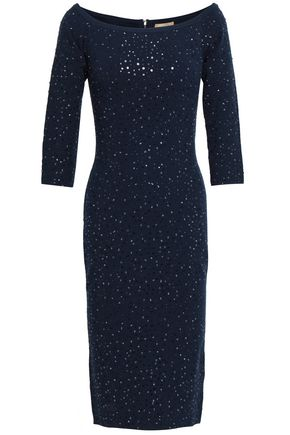 MICHAEL KORS COLLECTION Sequined stretch-ponte dress