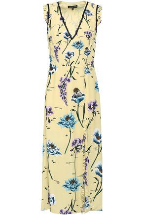 MARKUS LUPFER Saskia floral-print split-front crepe midi dress