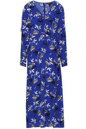 MARKUS LUPFER Melissa cutout silk midi dress