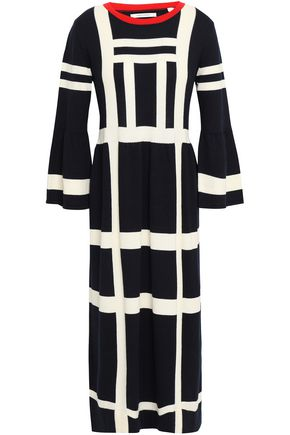 CHINTI AND PARKER Checked cotton midi dress