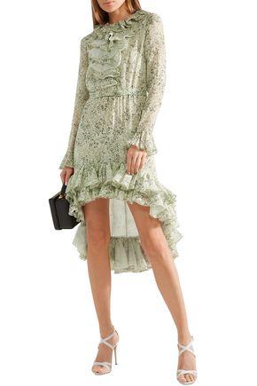 2327685498 GIAMBATTISTA VALLI Ruffled printed silk-georgette mini dress