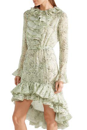GIAMBATTISTA VALLI Ruffled printed silk-georgette mini dress