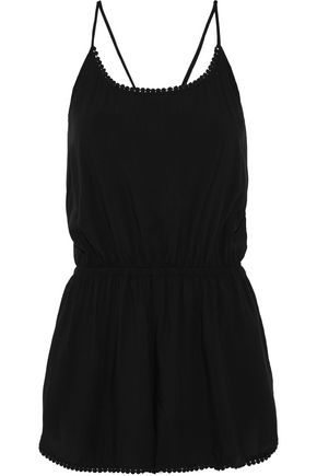 TART COLLECTIONS Liv lace-trimmed voile playsuit