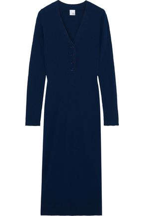IRIS & INK Josephine ribbed wool dress