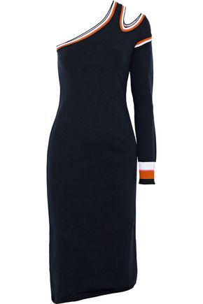 PETER PILOTTO One-shoulder cutout stretch-knit dress