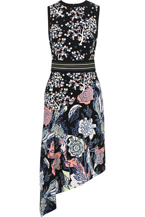PETER PILOTTO Asymmetric printed cady dress