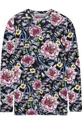PRABAL GURUNG Floral-print jersey top