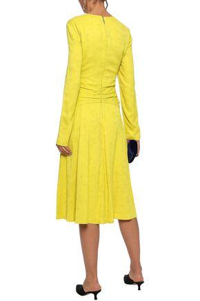 PRABAL GURUNG Twist-front ruched jacquard midi dress