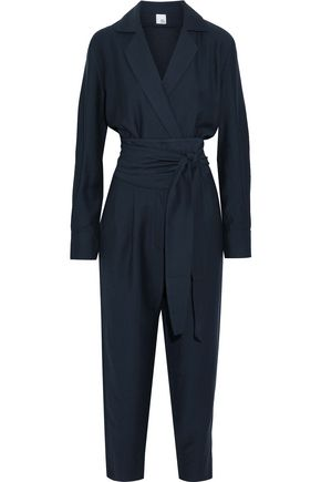 IRIS & INK Willow belted crepe jumpsuit