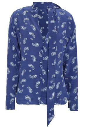 ROCKINS Printed silk crepe de chine shirt