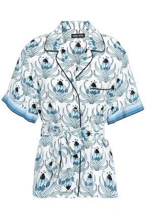 MARKUS LUPFER Printed silk crepe de chine shirt