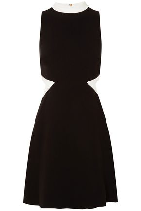 RACHEL ZOE Cutout stretch-crepe mini dress