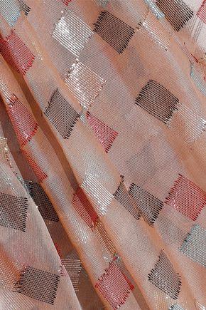 PETER PILOTTO One-shoulder ruffled fil coupé silk-blend organza gown