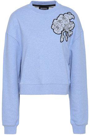 MARKUS LUPFER Appliquéd French cotton-terry sweatshirt