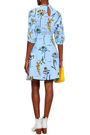 MARKUS LUPFER Kimi floral-print crepe mini dress