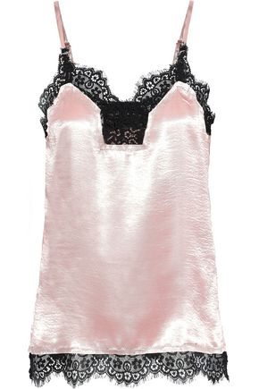 W118 by WALTER BAKER Tarra lace-trimmed hammered-satin camisole
