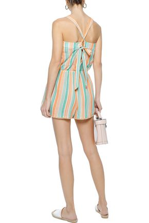 TART COLLECTIONS Hailey striped cotton-gauze playsuit
