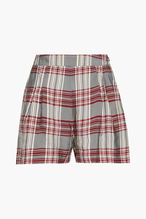 MARKUS LUPFER Checked twill shorts