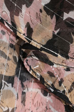 W118 by WALTER BAKER Faith ruffled metallic printed chiffon blouse
