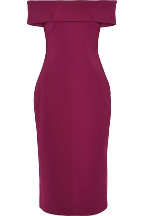 CUSHNIE ET OCHS Off-the-shoulder crepe dress