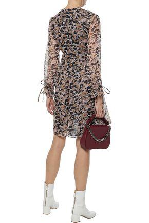W118 by WALTER BAKER Jillien metallic printed georgette mini dress