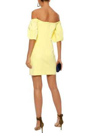 CUSHNIE Silvia off-the-shoulder cady mini dress